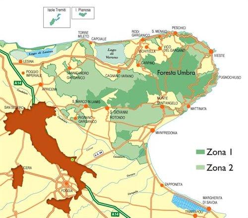 Cartina Puglia Zona Gargano.Il Parco Parco Nazionale Del Gargano